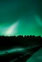 Oil pipeline and aurora