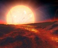 Kepler-10b exoplanet, artwork