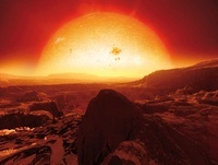 Extrasolar super-Earth, artwork