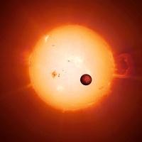 Exoplanet COROT-7b, artwork 01809027021| 写真素材・ストックフォト・画像・イラスト素材|アマナイメージズ