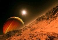 Alien planetary system, artwork 01809027024| 写真素材・ストックフォト・画像・イラスト素材|アマナイメージズ