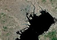 Tokyo, Japan, satellite image