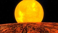 View from Kepler-10b exoplanet