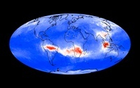 Global carbon monoxide levels, Sep 2002