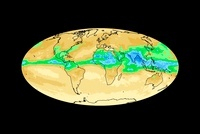 Global water vapour levels, July 2003