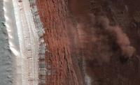 Martian landslides