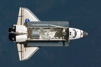 Endeavour approaching the ISS, 2008