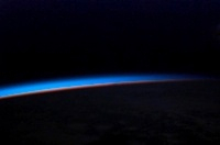 Earth's horizon from space