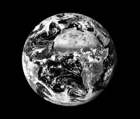 Earth, infrared satellite image