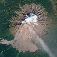 Shiveluch Volcano, satellite image