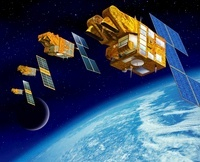 SPOT satellites, artwork 01809027724| 写真素材・ストックフォト・画像・イラスト素材|アマナイメージズ
