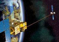 SPOT 4 and Artemis satellites, artwork 01809027728| 写真素材・ストックフォト・画像・イラスト素材|アマナイメージズ