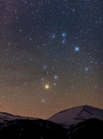 Scorpius over the Alps