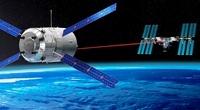 ATV approaching the ISS, artwork 01809028524  写真素材・ストックフォト・画像・イラスト素材 アマナイメージズ