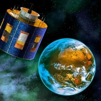 MSG-2 weather satellite, artwork