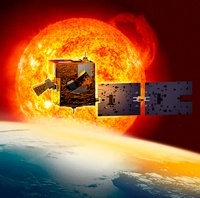 Picard satellite and Sun, artwork