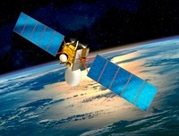 Communications satellite, artwork