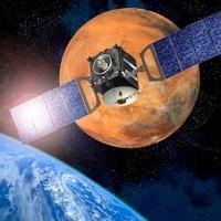 Mars Express mission, artwork 01809028562  写真素材・ストックフォト・画像・イラスト素材 アマナイメージズ