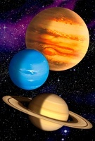 Gas giant planets, artwork