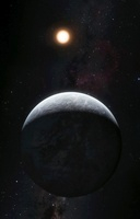 HD 85512 b planet and star, artwork