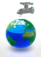 Global water shortage, conceptual image