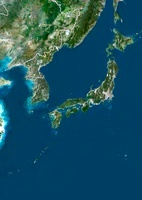 Japan, satellite image