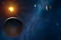 Artwork of an Extrasolar Planetary System