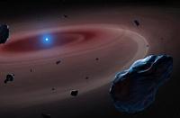 Debris Disc Around a White Dwarf