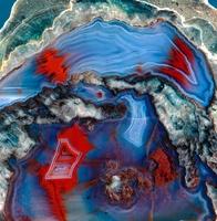 Agate lava geode