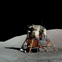 Apollo 17 lunar module, astronaut photo