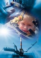 Space tourism, conceptual image