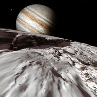 Jupiter from Europa, artwork