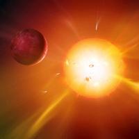 Solar system formation, artwork