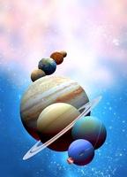 Solar system planets, artwork