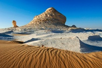 Rock formations, Egypt�fs White Desert