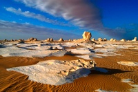 Clouds and rocks, Egypt's White Desert