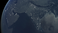 Middle East and India at night