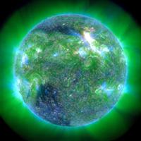 Solar activity, SDO ultraviolet image