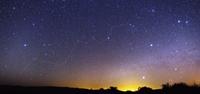 Night sky over a desert