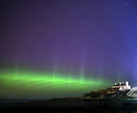 Aurora borealis, Whitley Bay, UK