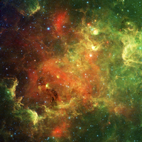North America Nebula, infrared image