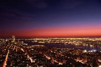 エンパイアステートビルからのニューヨークの夜景 アメリカ