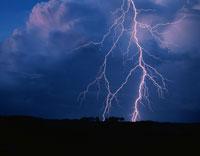 富良野の雷の風景 北海道