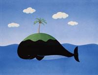 クジラの島 夏 イラスト