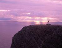 真夜中の太陽 ノールカップ ノルウェー