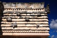 水を象徴した亀の石彫と亀の家 ウシュマル遺跡