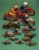 ブリキのおもちゃ いろいろなバイク