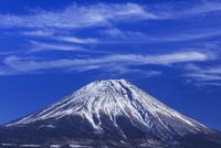 筋雲と富士山 大沢崩れ