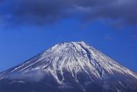 黒雲と富士山 大沢崩れ