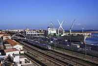 アルジェ港とアルジェ駅